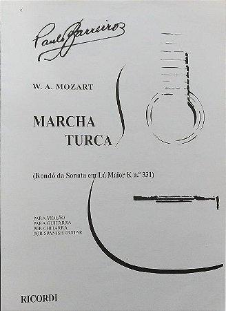 PARTITURA PARA VIOLÃO: MARCHA TURCA (Rondó da Sonata em Lá Maior K n° 331) - Mozart