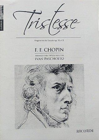 PARTITURA PARA VIOLÃO: TRISTESSE (fragmento do estudo opus 10 n° 3 - Chopin