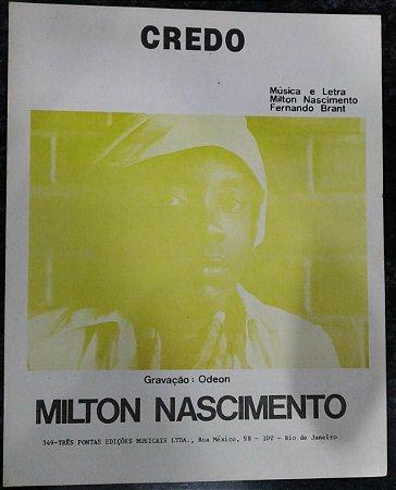 PARTITURA PARA PIANO: CREDO - Milton Nascimento