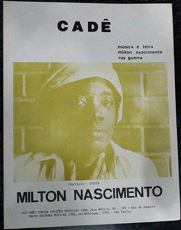 PARTITURA PARA PIANO: CADÊ - Milton Nascimento