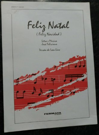 PARTITURA PARA PIANO E CANTO: FELIZ NATAL (Feliz Navidad) - Ivan Lins