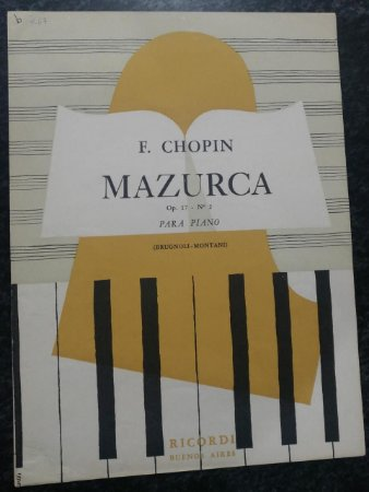 MAZURCA OPUS 17 N° 2 - CHOPIN (partitura para piano solo)