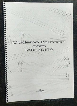 CADERNO PAUTADO COM TABLATURA