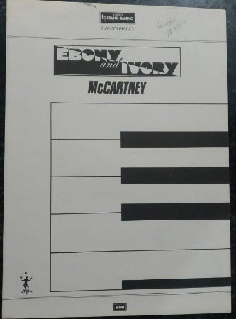 EBONY AND IVORY - partitura para piano, canto e cifras para violão - Paul McCartney