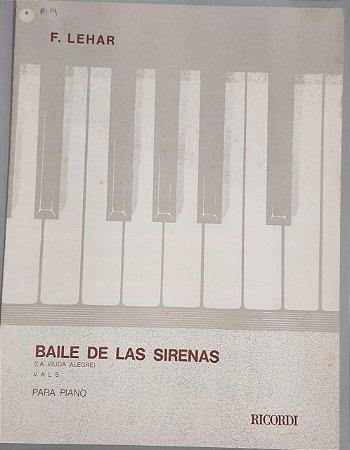 BAILE DE LAS SERENAS (La viuda alegre) - partitura para piano - Franz Lehar