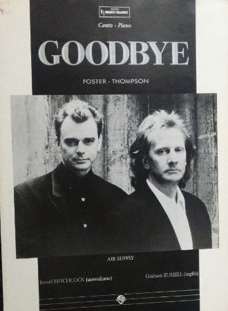 GOODBYE - partitura para piano e canto - David Foster e Linda Thompson