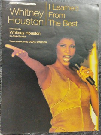 I LEARNED FROM THE BEST - partitura para piano, vocal e cifras para violão - Whitney Houston