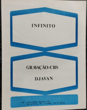 INFINITO - partitura para piano - Djavan