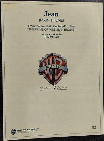 JEAN (MAIN THEME) - partitura para piano, canto e cifras para violão - Rod McKuen