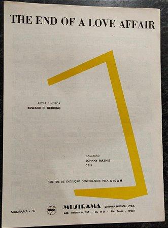 THE END OF A LOVE AFFAIR - partitura para piano, canto e cifras para violão - Edward Redding - Gravação Johnny Mathis