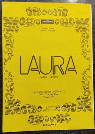 LAURA - partitura para piano, vocal e cifras para violão - David Raksin e Johnny Mercer