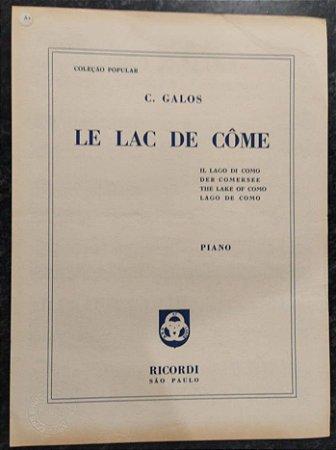 LE LAC DE COME - partitura para piano solo - C. Galos