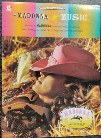 MUSIC - partitura para piano, vocal e cifras para violão - Madonna