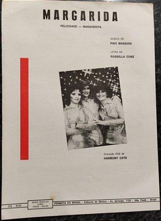 FELICIDADE (Margarida / Margherita) - partitura para piano e canto - Harmony Cats, Pino Massara e Rossella Conz