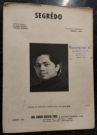 SEGRÊDO - partitura para piano - Antonio Queiroz e Michel Butnariu. Gravação Chantecler Edinaldo Vieira