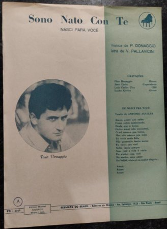 SONO NATO CON TE (Nasci para você) - Pino Donaggio e V. Pallavicini