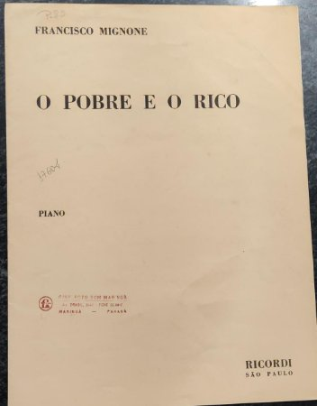 O POBRE E O RICO - partitura para piano - Francisco Mignone