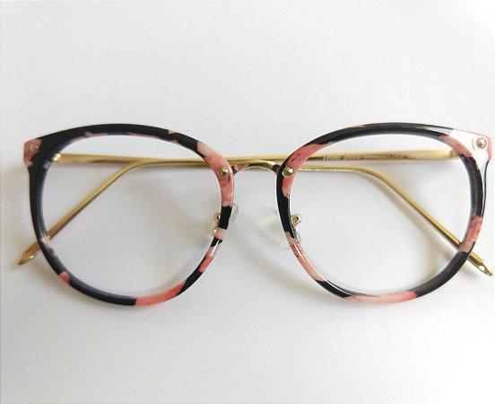 6a60d9afd Armação Para Óculos de Grau Redondo Acetato Rose Acetato Compre com ...
