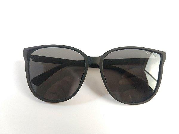 Óculos de Sol Acetato Preto Fosco Lente Preta UVA/UVB