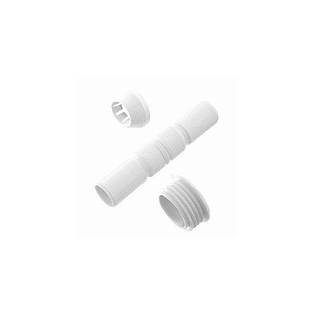 Tubo de Ligação Fere Sanfonado Branco com Espude e Canopla
