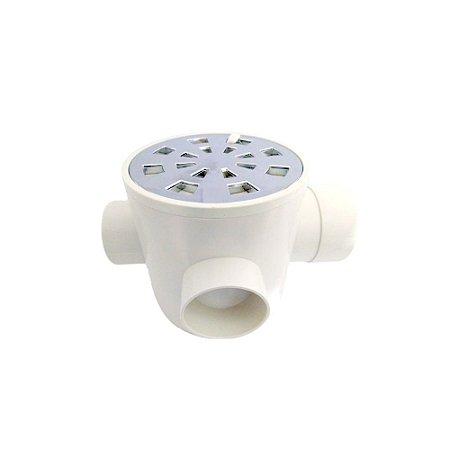 Caixa Injerest Sifonada com Grelha Regulável Cromada 100mm x 100mm x 50mm