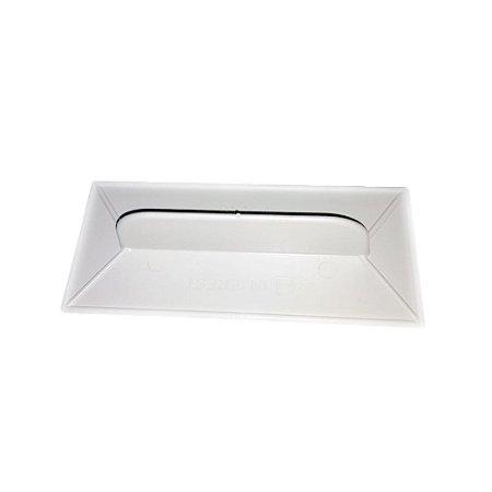 Desempenadeira Injerest Plástica 07cm x 16cm Branca Corrugada