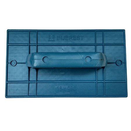 Desempenadeira Injerest Plástica 18cm x 30cm Azul Corrugada