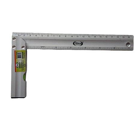 "Esquadro Idea 8"" Aluminio com nivel 20cm"