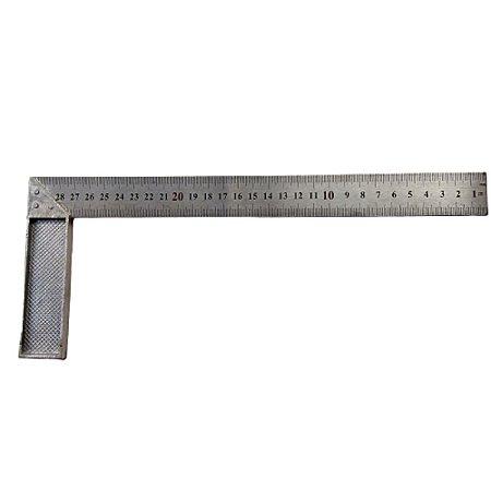 "Esquadro Idea 12"" Aluminio 30cm"
