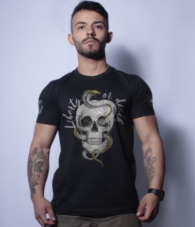 Camiseta Militar Liberty or Death