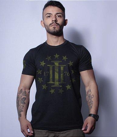 Camiseta Militar Magnata Three Percent 1776