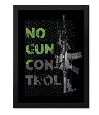 Poster Militar com Moldura Magnata No Gun Control