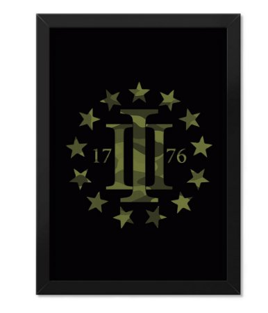 Poster Militar com Moldura Magnata Three Percent 1976