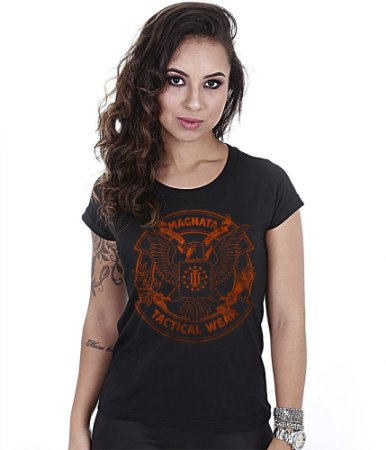 Camiseta Militar Baby Look Feminina Magnata Tactical Wear