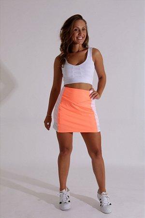 Saia com Shorts Neon Coral