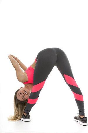 Legging Crunches Gray + Neon