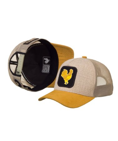 Bone Made in Mato Trucker Rooster Yellow
