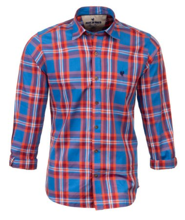 Camisa Masculina Made in Mato Xadrez Azul