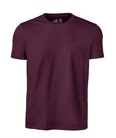 Camiseta Made in Mato Básica Vinho Cravo