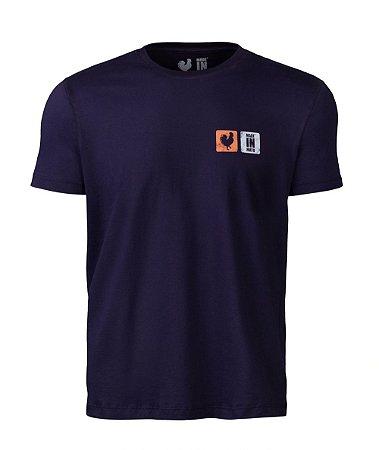 Camiseta Estampada Made in Mato Rooster Marinho
