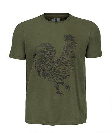 Camiseta Estampada Made in Mato Minimalista Verde