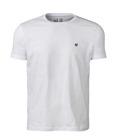 Camiseta Basic Branco Gola Careca