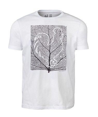 Camiseta Estampada Made in Mato Folha Branco