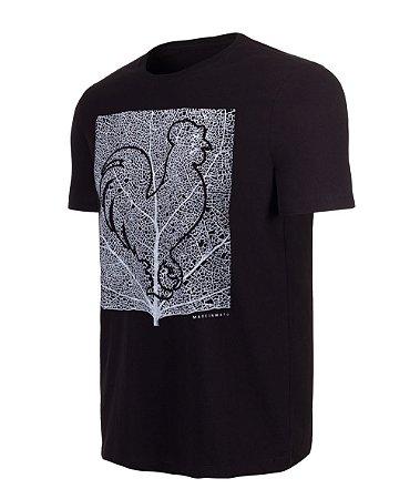 Camiseta Estampada Made in Mato Folha Preto