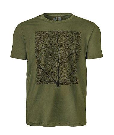 Camiseta Estampada Made in Mato Folha Verde