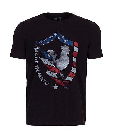 Camiseta Estampada Made in Mato New EUA Preto