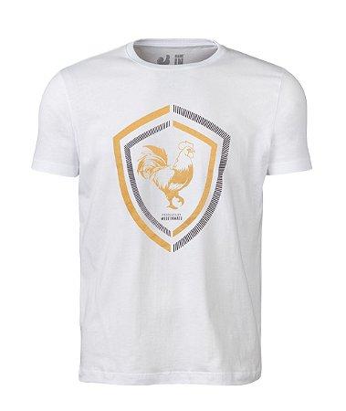 Camiseta Estampada Made in Mato New White Rooster