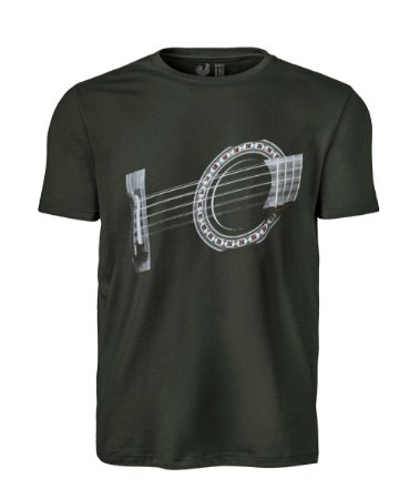 Camiseta Estampada Made in Mato Verde Musgo Violão