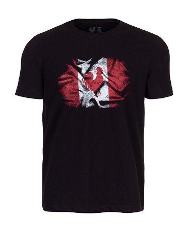 Camiseta Estampada Made in Mato Canadá Preto