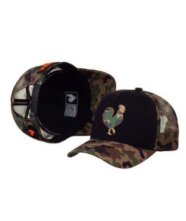 Bone Made in Mato Trucker Military Rooster